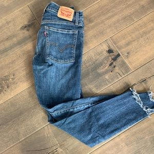 Levi's high rise skinny jeans.